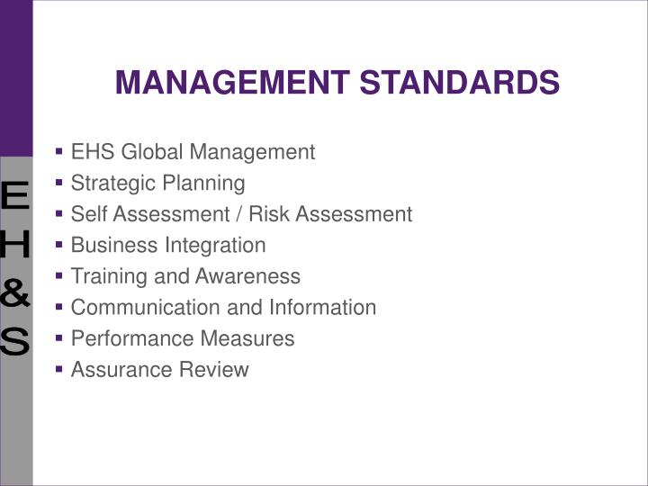MANAGEMENT STANDARDS