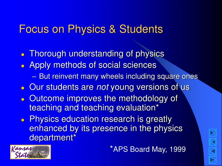 Focus on Physics & Students