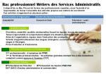 bac professionnel m tiers des services administratifs