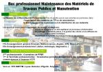 bac professionnel maintenance des mat riels de travaux publics et manutention