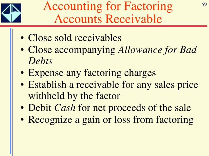 Accounting for Factoring Accounts Receivable