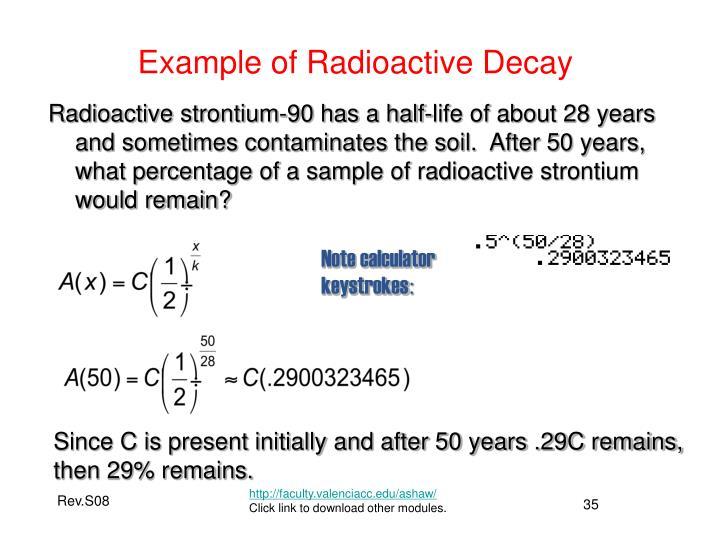 Example of Radioactive Decay