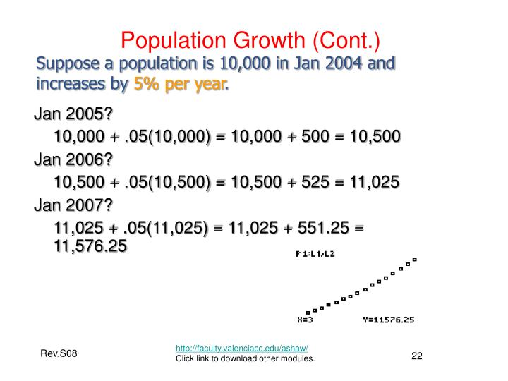 Population Growth (Cont.)