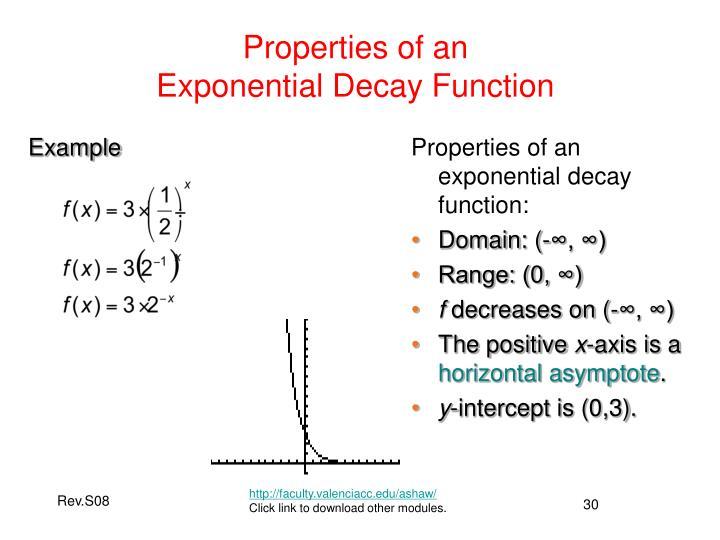 Properties of an