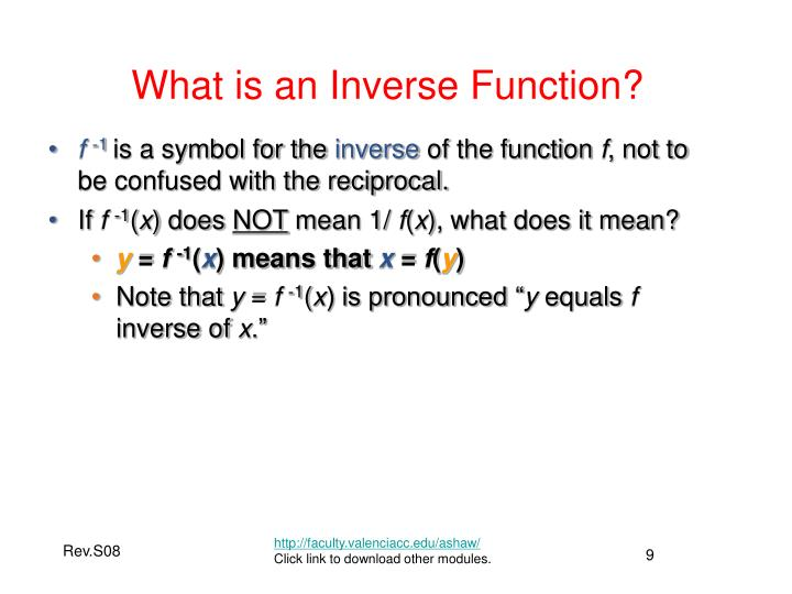 What is an Inverse Function?