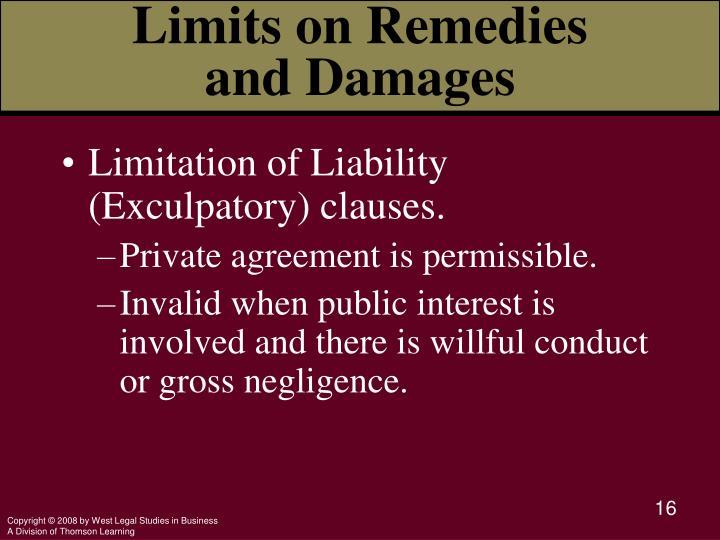limitation of remedies