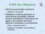 gats key obligations