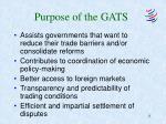 purpose of the gats