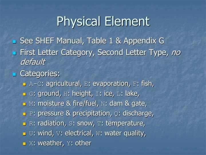 Physical Element