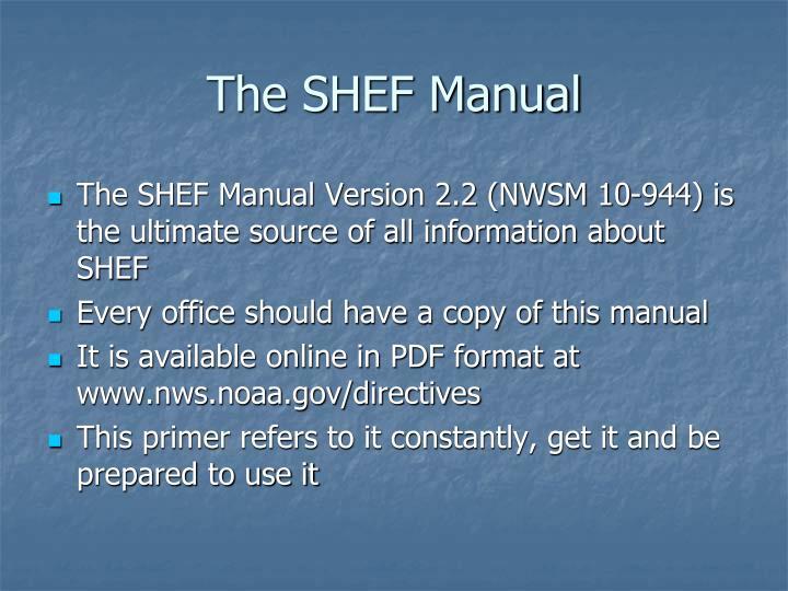 The shef manual
