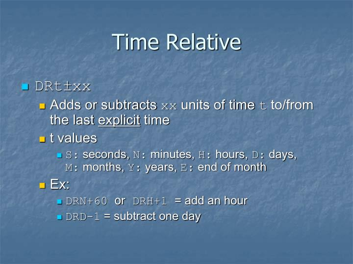Time Relative