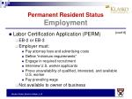 permanent resident status employment4