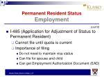 permanent resident status employment7