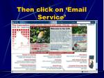 then click on email service