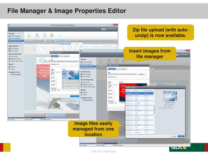 File Manager & Image