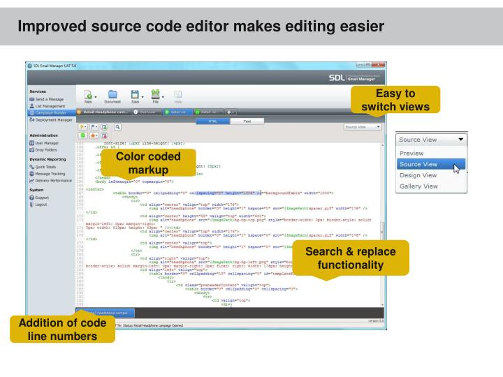 Improved source code editor makes editing easier