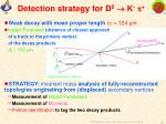 detection strategy for d 0 k p