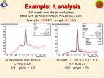 example l analysis