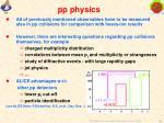 pp physics