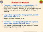 statistics needed