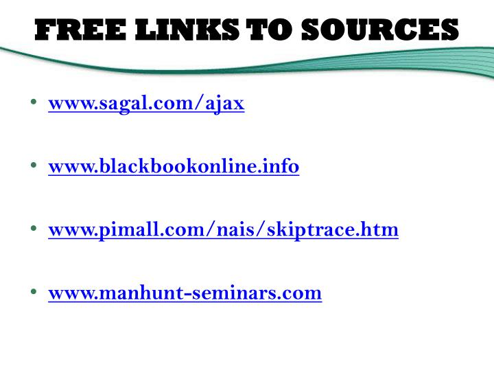 FREE LINKS TO SOURCES