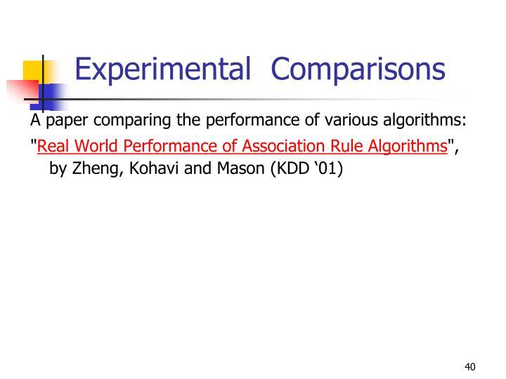 Experimental  Comparisons