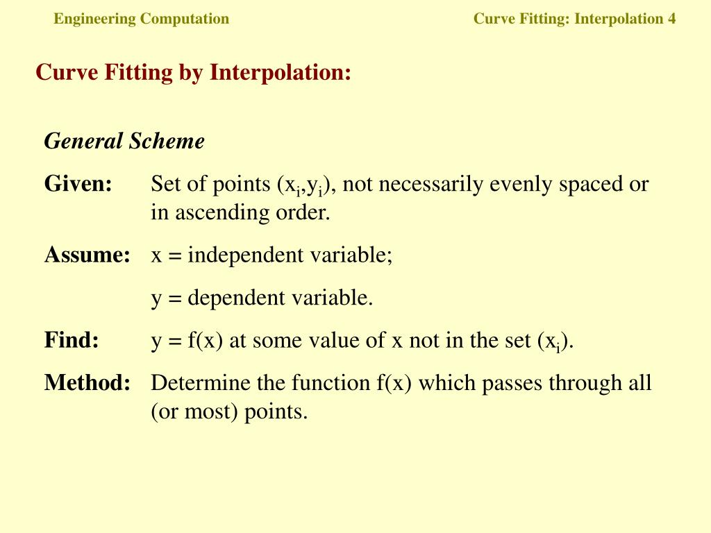 PPT - Engineering Computation Curve Fitting: Interpolation 1