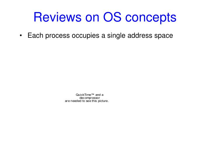 Reviews on os concepts