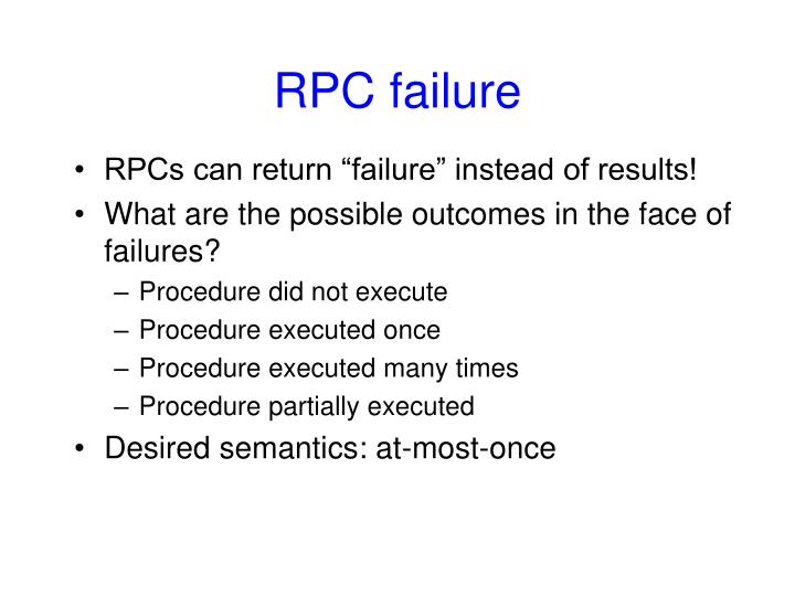 RPC failure