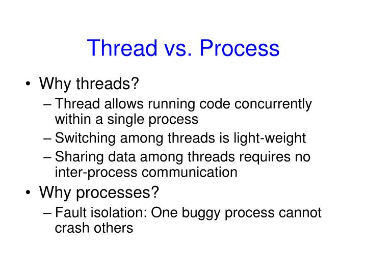 Thread vs. Process