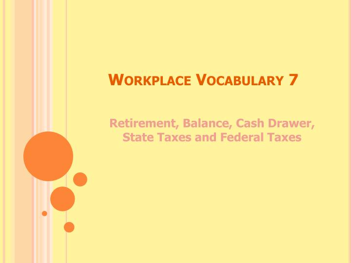 workplace vocabulary 7 n.