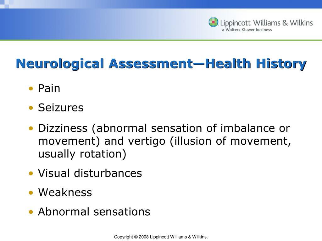 PPT - Chapter 60 Assessment of Neurologic Function PowerPoint