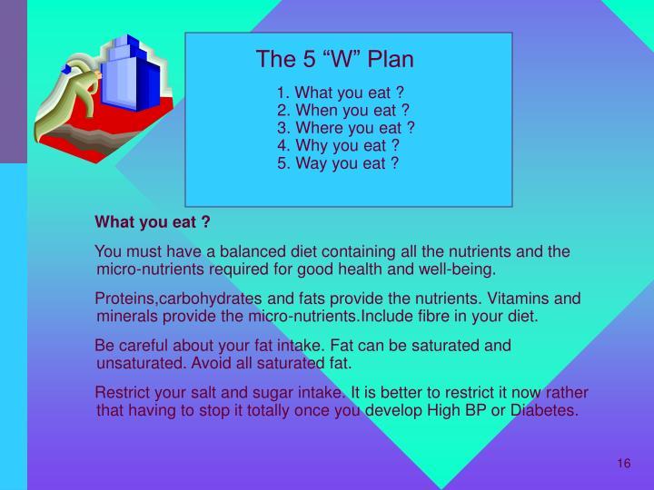 "The 5 ""W"" Plan"