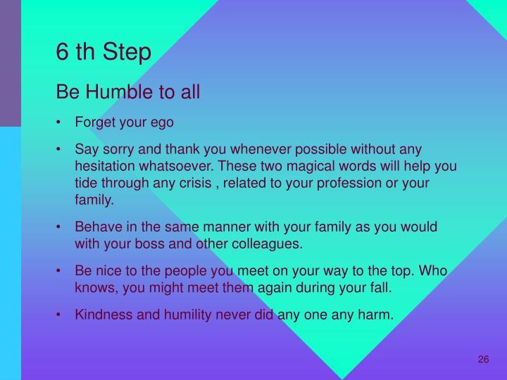 6 th Step