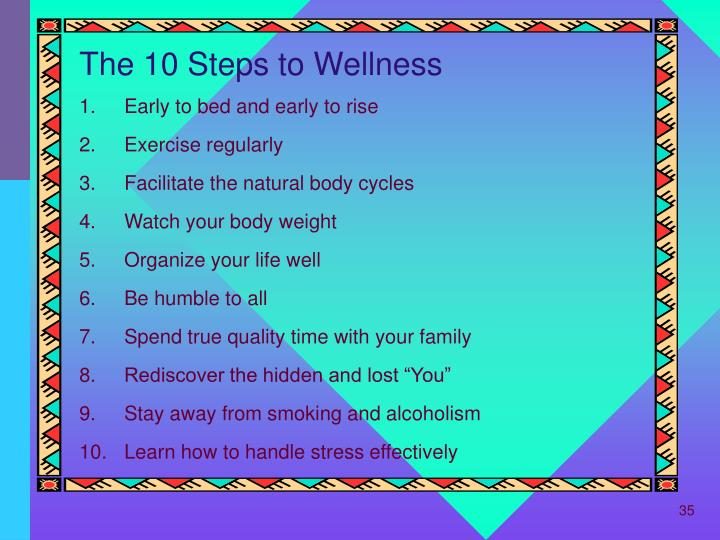 The 10 Steps to Wellness