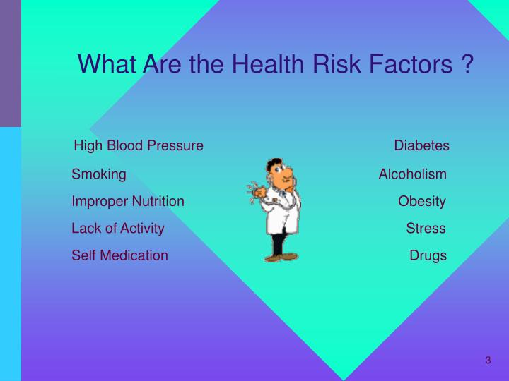 What are the health risk factors
