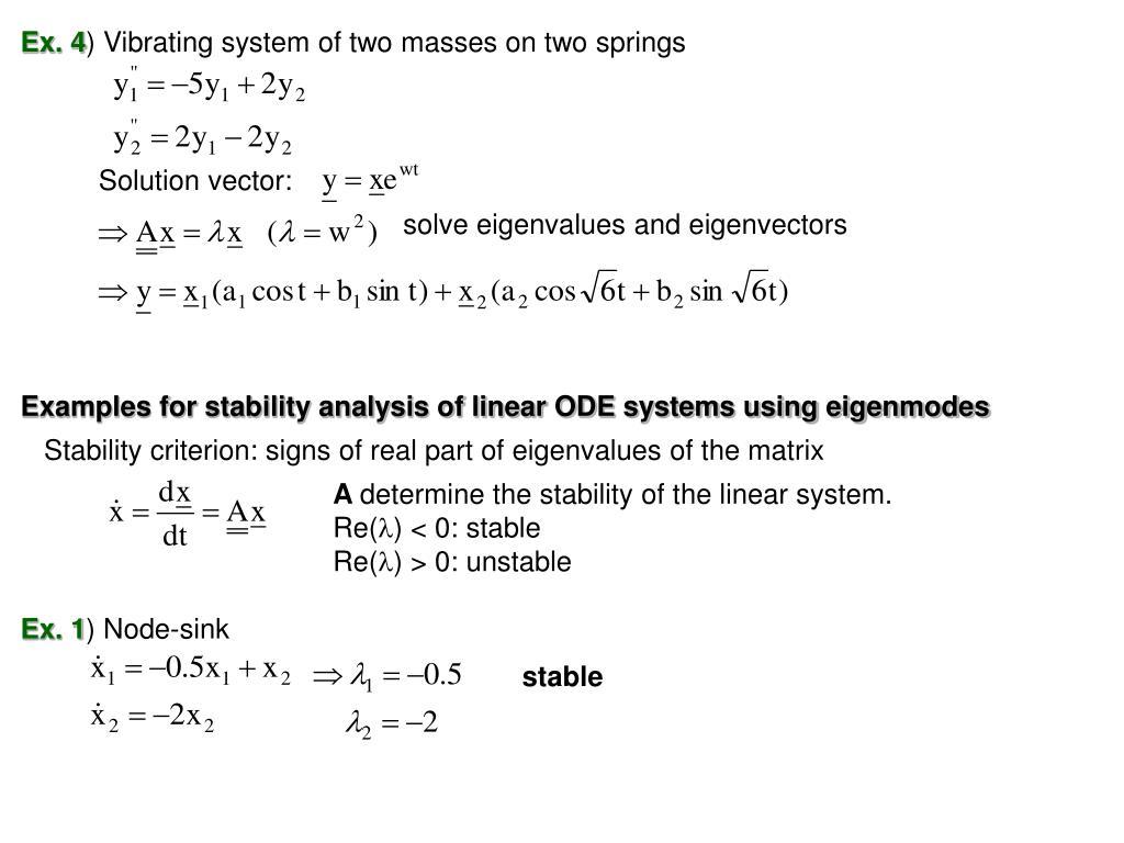 PPT - Chap  7  Linear Algebra: Matrix Eigenvalue Problems