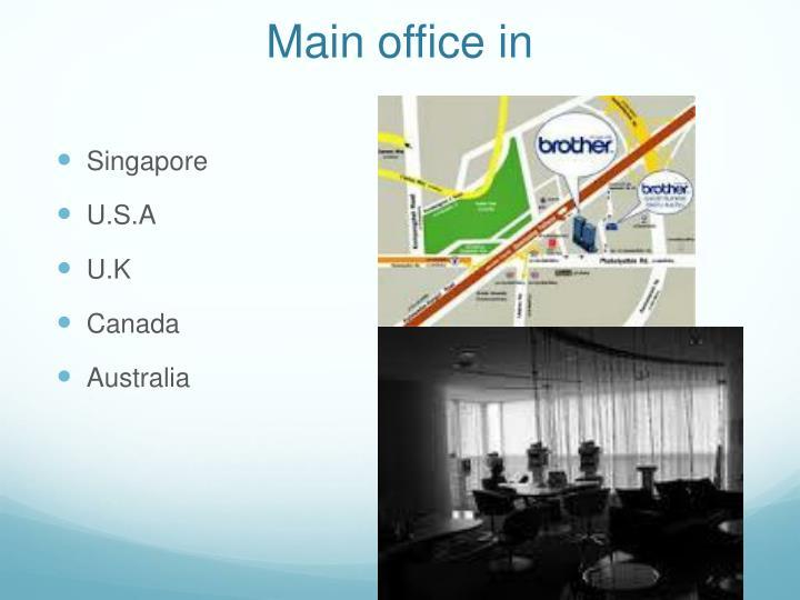 Main office in