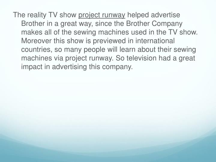 The reality TV show