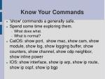 know your commands1