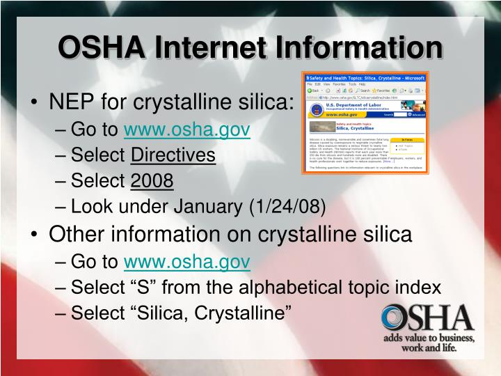 OSHA Internet Information