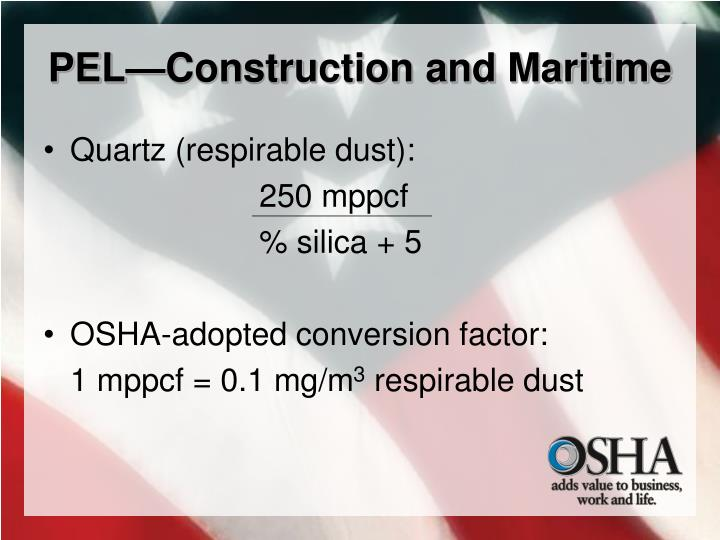 PEL—Construction and Maritime
