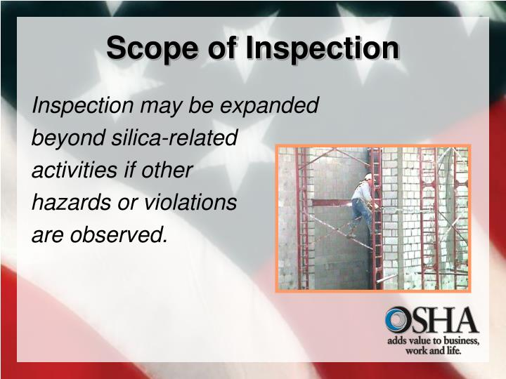Scope of Inspection