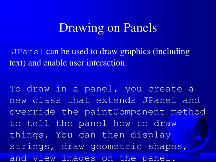 Drawing on Panels