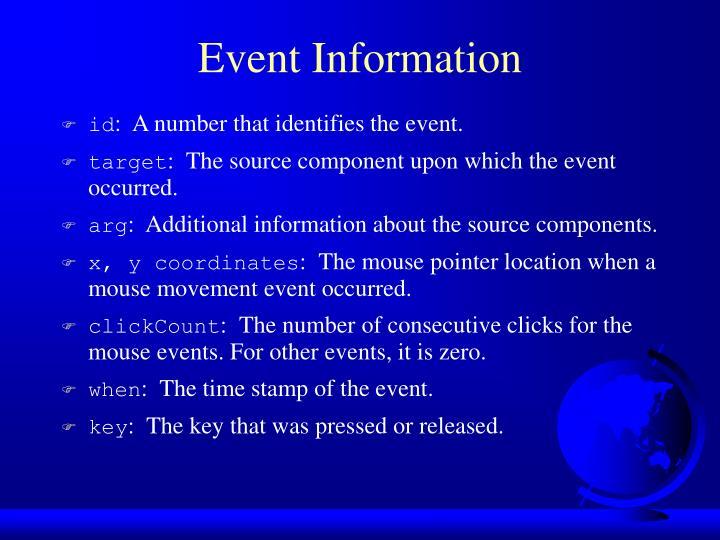 Event Information