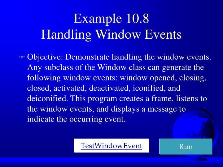 Example 10.8