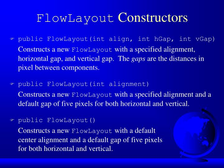 FlowLayout