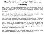 how to survive strategy 3 external advocacy