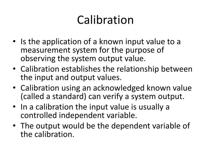 Calibration