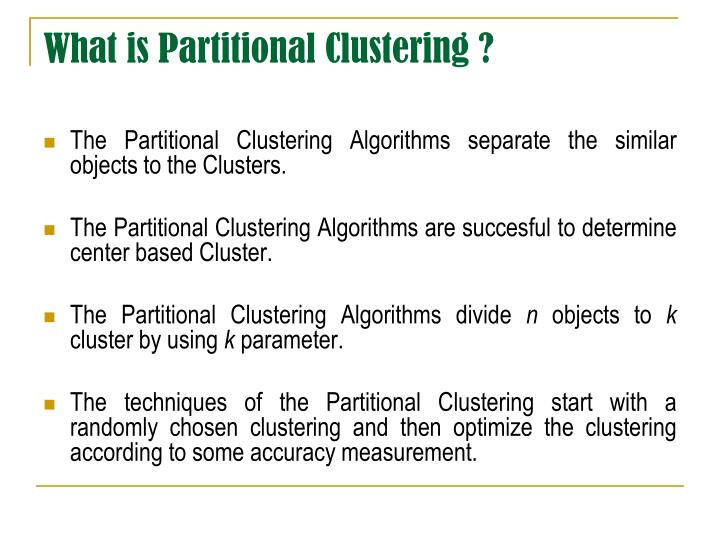 PARTITIONAL CLUSTERING EBOOK